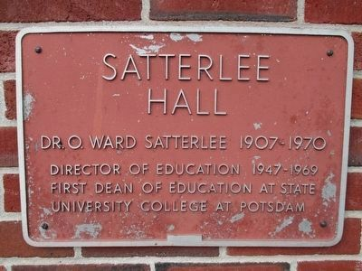 Satterlee Hall Marker image. Click for full size.
