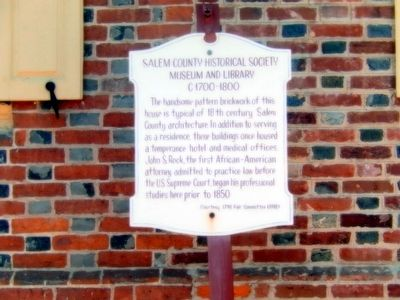 Salem County Historical Society Museum and Library Marker image. Click for full size.
