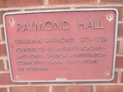 Raymond Hall Marker image. Click for full size.
