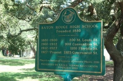 Baton Rouge High School Marker image. Click for full size.