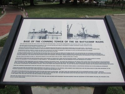 Base of the Conning Tower of the US Battleship Maine Marker image. Click for full size.