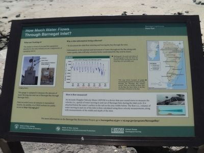 How Much Water Flows Through Barnegat Inlet Marker image. Click for full size.
