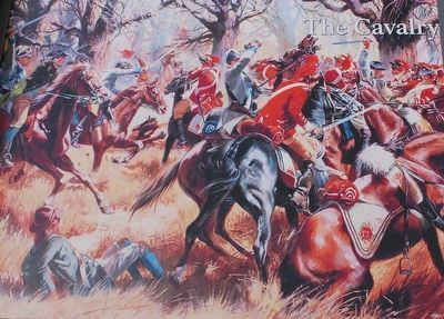 The Cavalry (Dragoons) at Cowpens Marker image. Click for full size.