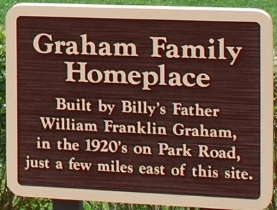 Graham Family Homeplace Marker image. Click for full size.