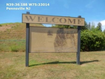 Welcome sign to Fort Mott image. Click for full size.