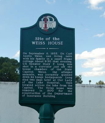 Site of the Weiss House Marker image. Click for full size.