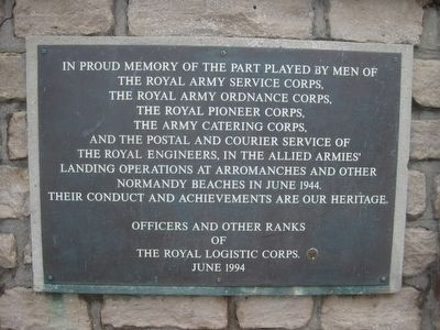 Royal Logistics Corps Memorial Marker image. Click for full size.