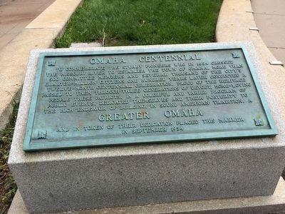 Omaha Centennial Marker image. Click for full size.