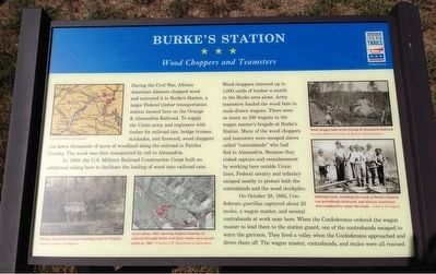 Burke's Station Marker image. Click for full size.
