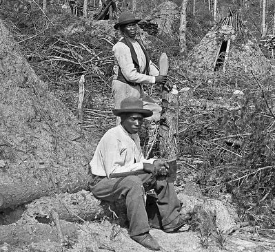 Detail of African American Wood Choppers image. Click for full size.