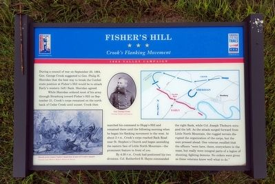 Fisher's Hill Marker image. Click for full size.