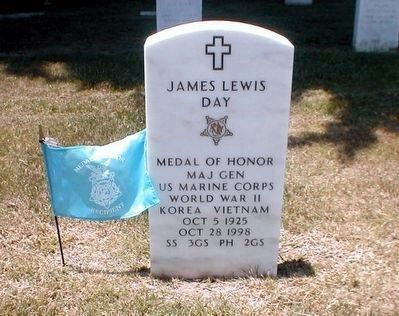 James L. Day-Medal of Honor grave marker image. Click for full size.
