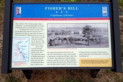 Fisher's Hill Marker (slightly modified) image. Click for full size.