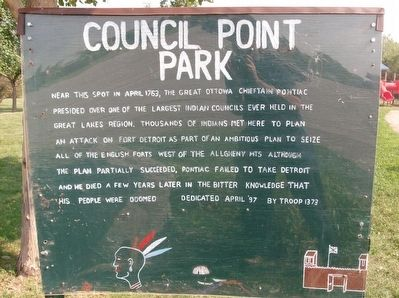 Council Point Park Marker image. Click for full size.