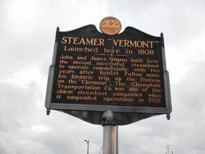 "Vermont / Steamer ""Vermont"" Marker image. Click for full size."