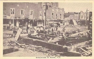 <i>Wreckage at Miami, Fla.</i> image. Click for full size.