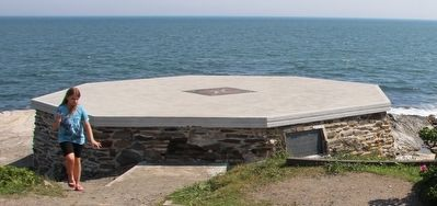 Foundation of the Original Beavertail Lighthouse Marker image. Click for full size.