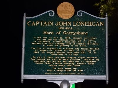 Captain John Lonergan Marker image. Click for full size.