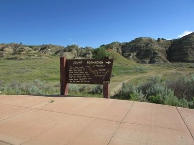 Marker in Theodore Roosevelt National Park image. Click for full size.