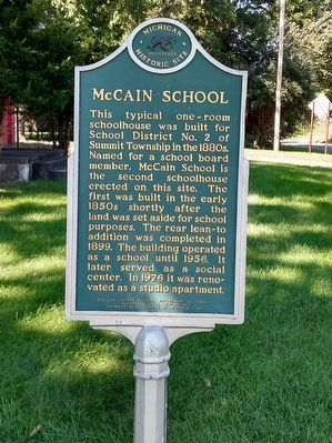 McCain School Marker image. Click for full size.