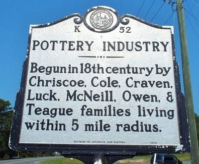Pottery Industry Marker image. Click for full size.