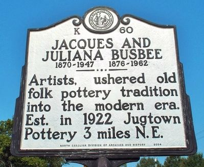 Jacques and Juliana Busbee Marker image. Click for full size.