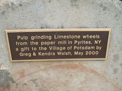 Pulp Grinding Limestone Wheels Marker image. Click for full size.