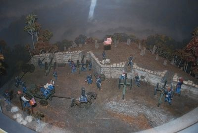 Cumberland Gap Visitor Center - Civil War Fort Model image. Click for full size.