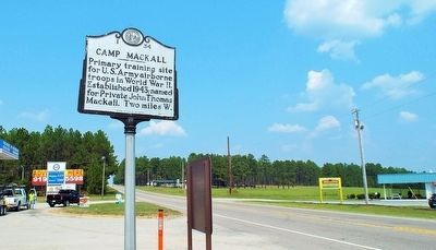 Camp Mackall Marker image, Touch for more information