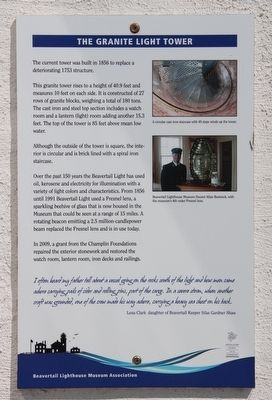 The Granite Light Tower Marker image. Click for full size.