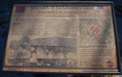 Skirmish at McLemore's Cove Marker image. Click for full size.