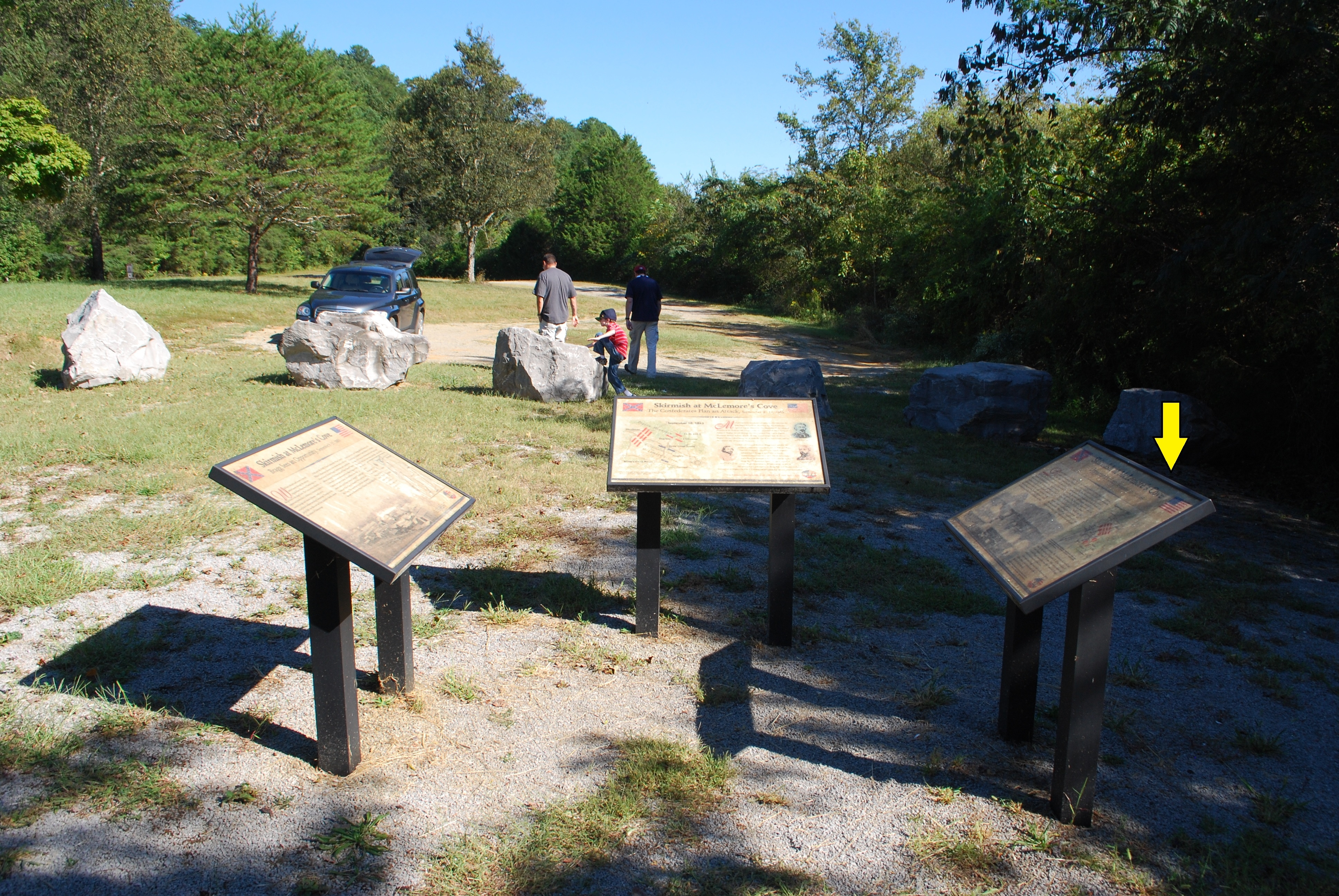 Skirmish at McLemore's Cove Marker