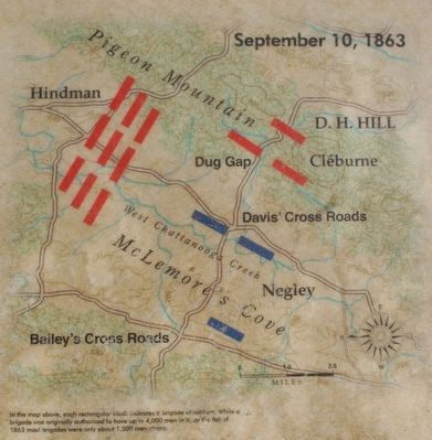 Skirmish at McLemore's Cove Marker Map image. Click for full size.