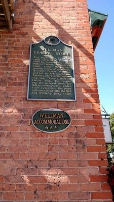 Wellman General Store Marker image. Click for full size.