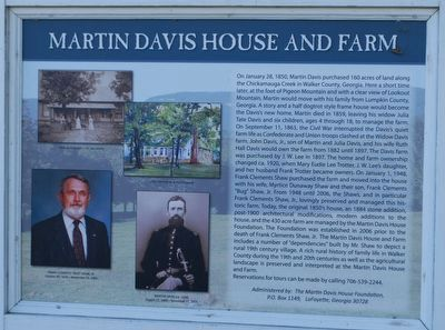 Martin Davis House and Farm Marker image. Click for full size.