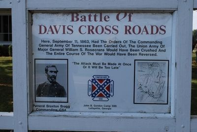 Battle of Davis Cross Roads- Old Marker image. Click for full size.