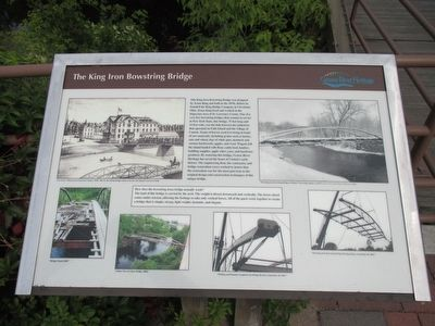 The King Iron Bowstring Bridge Marker image. Click for full size.
