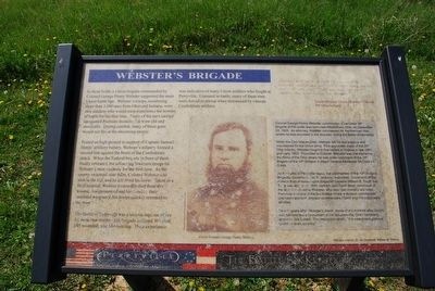 Webster's Brigade Marker image. Click for full size.
