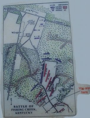 Confederate Retreat Marker Map image. Click for full size.