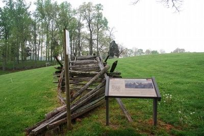 The Union Line at the Fence Marker image. Click for full size.