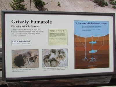 Grizzly Fumarole Marker image. Click for full size.