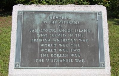 Memorial to the Veterans of Jamestown Marker image. Click for full size.