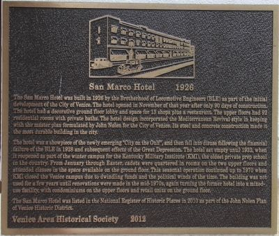 San Marco Hotel Marker image. Click for full size.