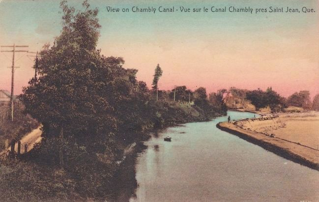 <i>View on Chambly Canal - Vue sur le Canal Chambly pres Saint Jean, Que.</i> image. Click for full size.
