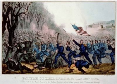 <i>Battle of Mill Spring, Ky. Jan. 19th 1862.</i> image. Click for full size.