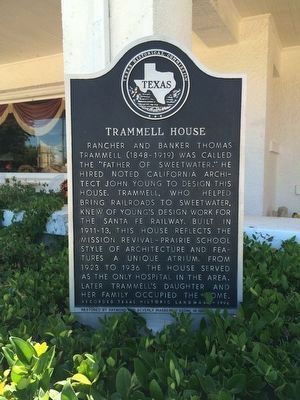 Trammell House Marker image. Click for full size.
