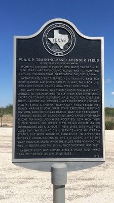 W.A.S.P. Training Base: Avenger Field Marker image. Click for full size.