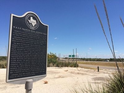 View of marker looking east on Interstate 20. image. Click for full size.