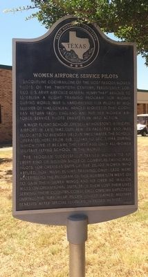 Women Airforce Service Pilots Marker image. Click for full size.