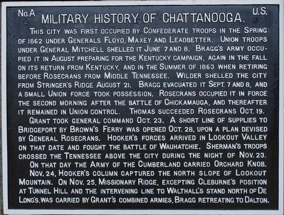 Military History of Chattanooga Marker (refurbished) image. Click for full size.